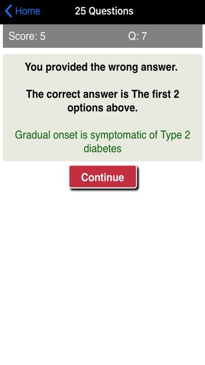 Learning Diabetes Care Quiz screenshot-4