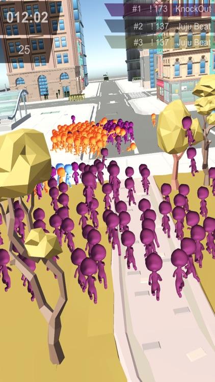Stickman Crowd in City screenshot-3