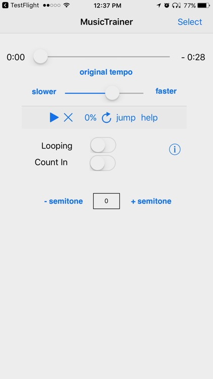 Slow Down Music Player