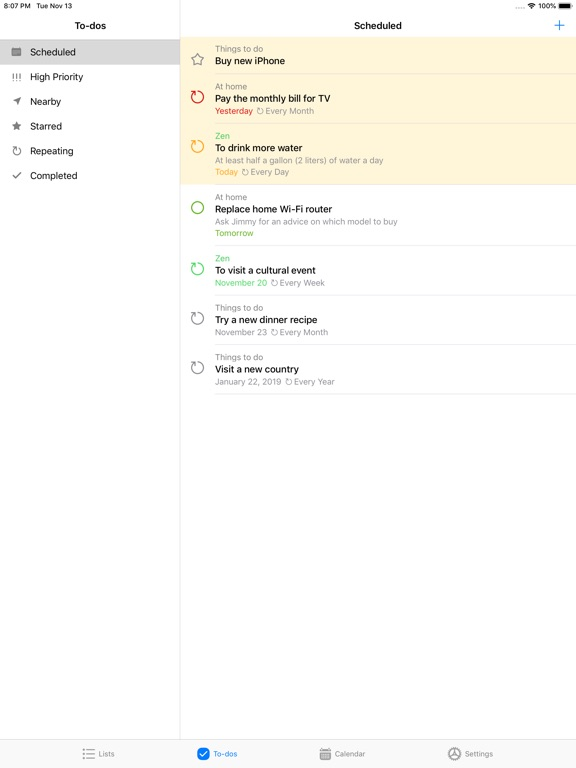 Pocket Lists 1 Screenshots