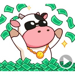 Moo the Rich Cow Stickers
