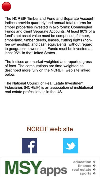NCREIF Timberland Fund & Separate Account Indices screenshot-3