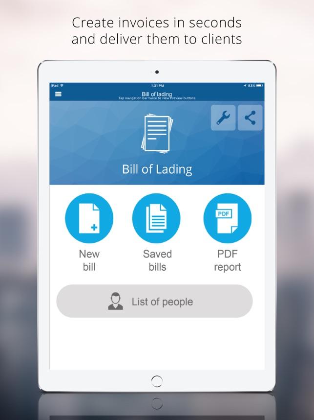 bill of lading app bill of lading
