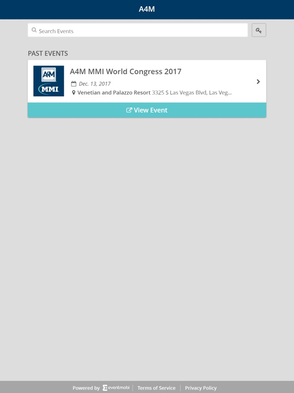 Image of A4M Events App for iPad