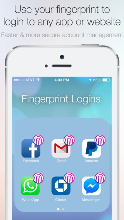 Fingerprint Login: PassKey Password Lock Hide Apps screenshot-0