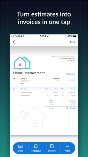 Invoice Go Invoice Estimate On The App Store - Invoice to go customer service