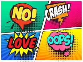 Comic Words Stickers