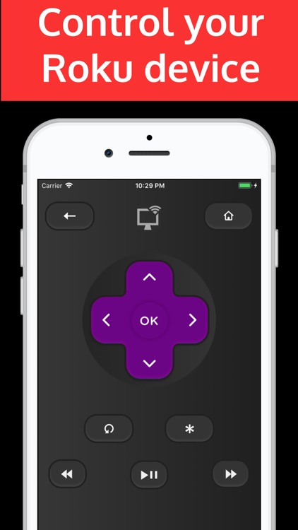 Rokumotee - remote for Roku