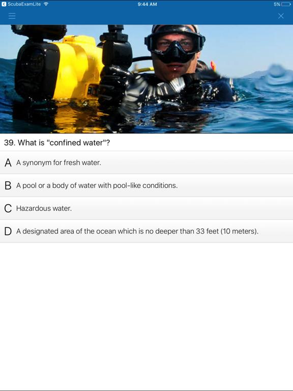 Scuba Exam screenshot