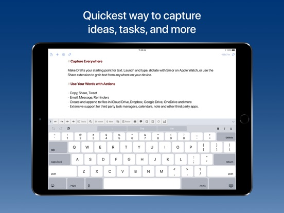 Image of Drafts 5: Capture ‣‣ Act for iPad