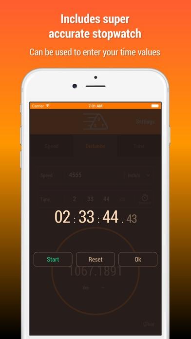 Speed Distance Time Calculator Screenshots
