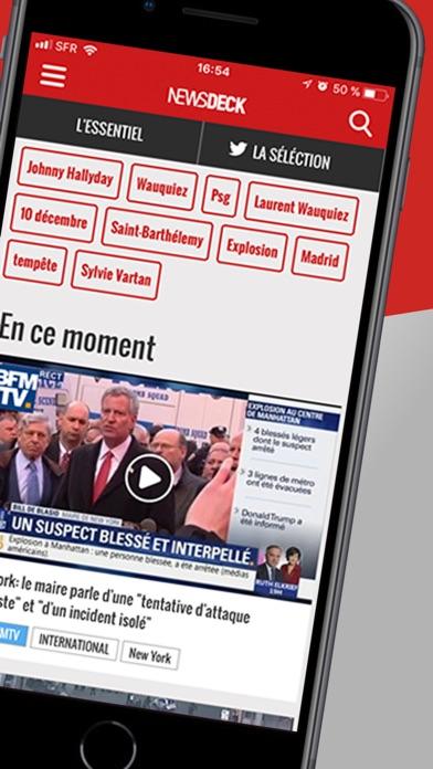 Newsdeck: Actu, News en direct Screenshot on iOS