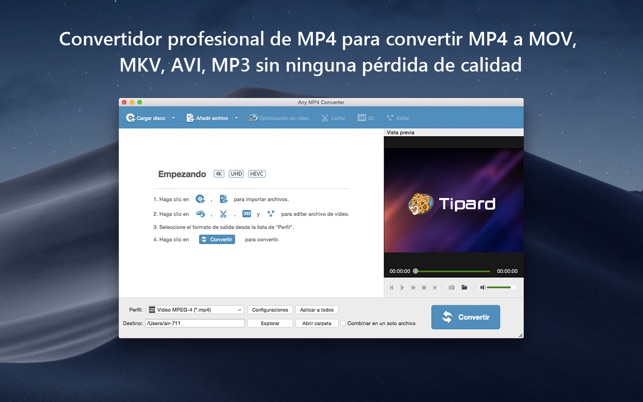 convertir mp4 a wmv para mac