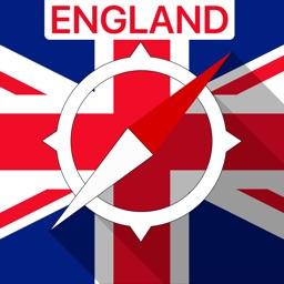 England, UK Offline Navigation