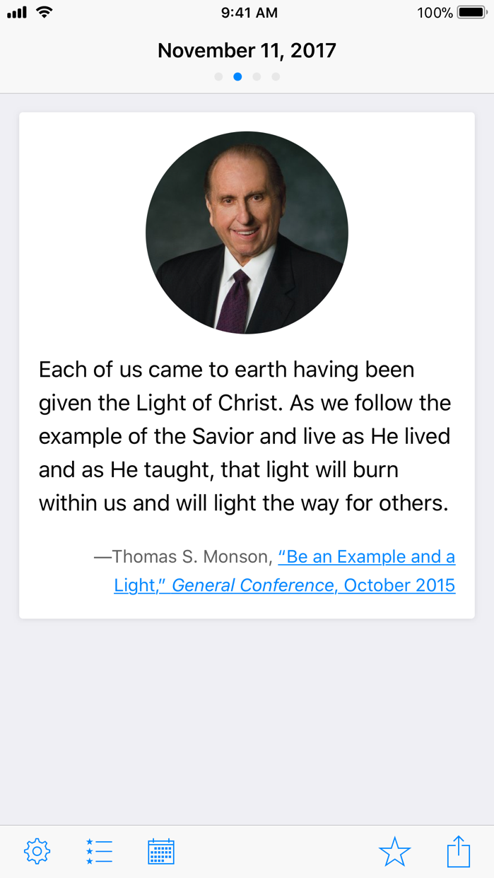 LDS Daily Verse Screenshot
