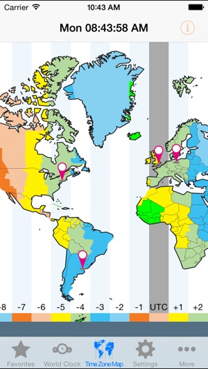 World clock goldtime zones on the app store sciox Gallery