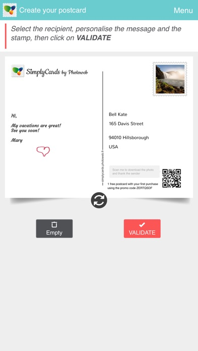 SimplyCards - Real Postcard Скриншоты7