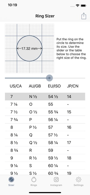 Ring Sizer From Jason Withers On The App Store
