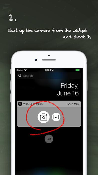 Take notes with Widget Camera - Widget Camera 1.2.5 IOS