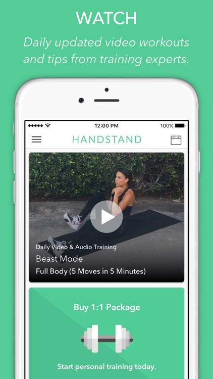 Handstand - Workouts on Demand
