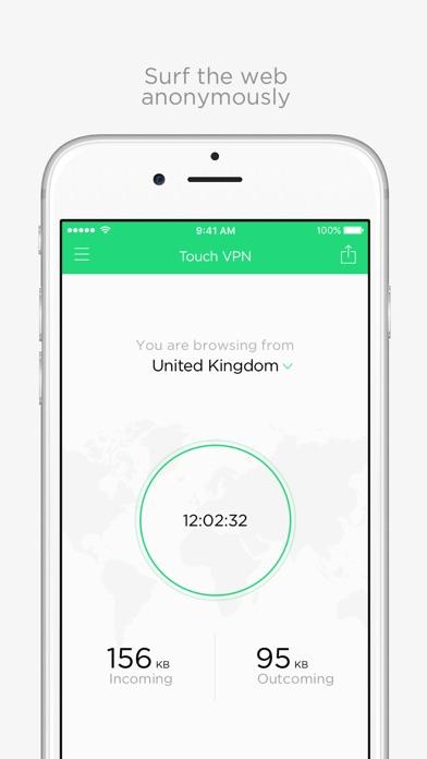 Unlimited VPN Proxy Touch VPN app image