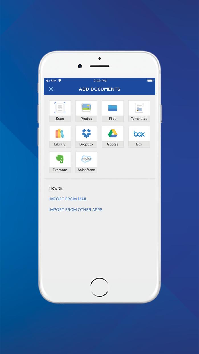 DocuSign - Upload & Sign Docs Screenshot