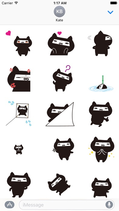 Animated Ninja Cat Sticker Gif screenshot 1