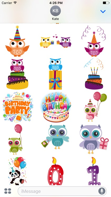 Happy Birthday's - Stickers Pack screenshot-3