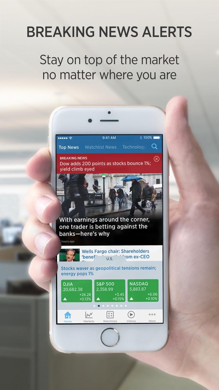 CNBC: Breaking Business News Screenshot