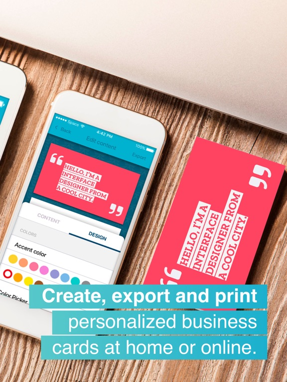 Download print business card maker 10 iosbusiness apps for ipad reheart Choice Image