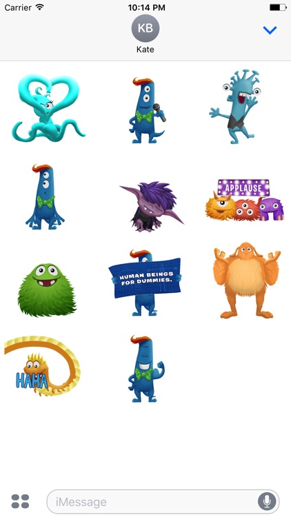 Stage Fright Monster Stickers