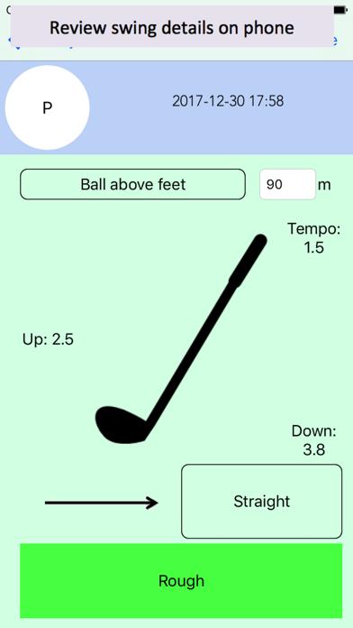 Golf Swing Feedback screenshot one