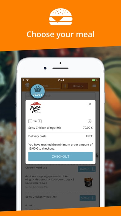 Screenshot for Takeaway.com - Belgium in Belgium App Store