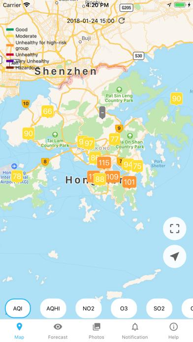 Hong Kong Air Quality AQI/AQHIのおすすめ画像1