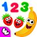 趣味食物3婴幼儿园教育2岁5宝宝学数字少儿童游戏数学