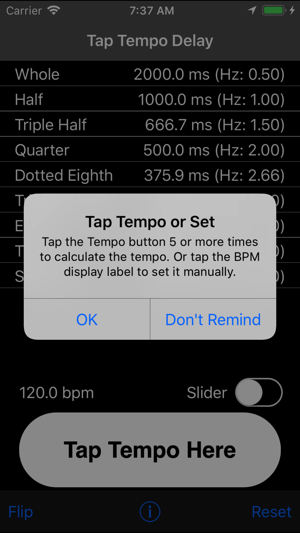 Tap Delay & Tempo Calculator