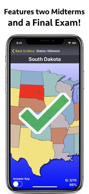 United States Map Quiz Edu Ed. on the App Store