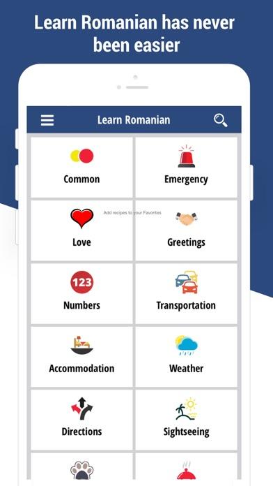 Learn Romanian Language app screenshot one