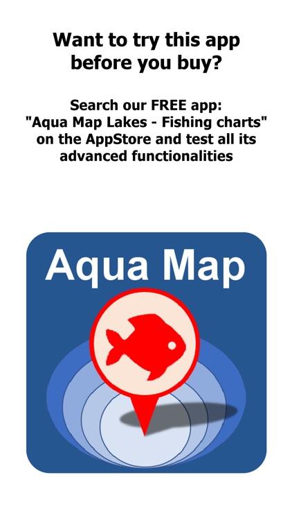 Aqua Map Michigan Lakes GPS HD screenshot-0