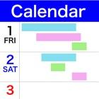 月間カレンダー(ホリゾンタル) icon