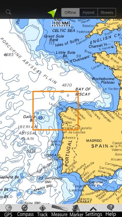 Galicia GPS Nautical Charts screenshot-4