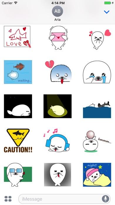 Animated Lovely Seal Sticker screenshot 2