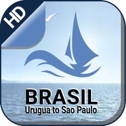 Urugua - Sao Paulo offline nautical boating charts