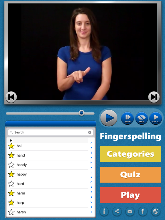 ASL Fingerspell American Sign Language Dictionary screenshot