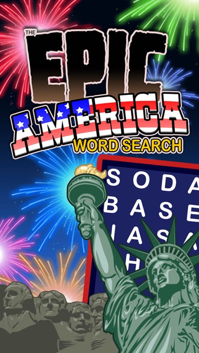 Epic America Word Search - giant USA wordsearch