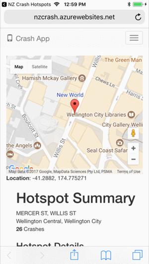 NZ Crash Hotspots On The App Store