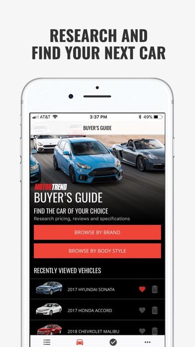 MOTOR TREND Buyer's Guide Screenshot
