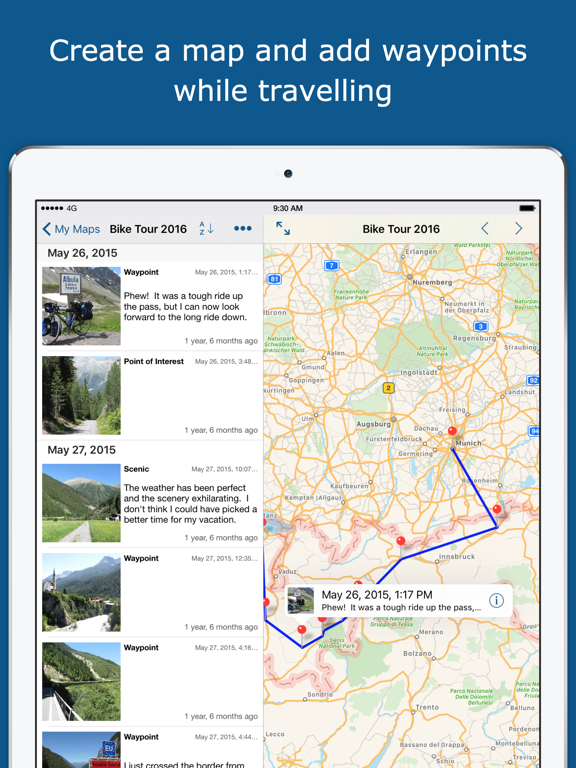 TrackMyTour by Christopher Meyer (iOS, United States) - SearchMan