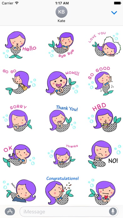 Mermaid Mermaidmoji Sticker screenshot 1