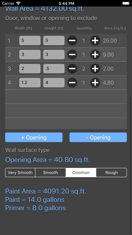 Paint Calculator Plus screenshot-5